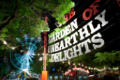 The Adelaide Fringe Festival's Garden of Unearthly Delights sign